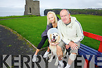 Dog owners Meela and PJ Nolan from Ballybunion with their dog 'Cody' who were attacked by an unleased great dane earler in the week, pictured here on Wednesday in Ballybunion.