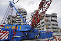 - Milan, yard for construction of the new building compound City Life....- Milano cantiere per la costruzione del nuovo complesso edilizio CityLife