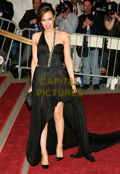 """CAMILLA AL FAYED (Dance Co-Chair of the """"AngloMania"""" Costume Institute Gala).2006 Costume Institute Gala Celebrating British designer Anglo Mania held at the Metropolitan Museum of Art. .May 1st, 2006.Photo: Jackson Lee/AdMedia/Capital Pictures.Ref: JL/ADM.full length black dress strap.www.capitalpictures.com.sales@capitalpictures.com.© Capital Pictures."""