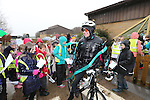 Welsh Water.Matthew Seamons charity bike ride & Jazz Carlin visit to Cog Moors..22.03.13.©Steve Pope