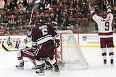 Alexander Kerfoot (Harvard - 14), Luke Esposito (Harvard - 9) -  - The Harvard University Crimson defeated the visiting Colgate University Raiders 7-4 (EN) on Saturday, February 20, 2016, at Bright-Landry Hockey Center in Boston, Massachusetts.