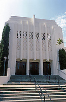 San Diego: Broadway 7th Day Adventist Church, 1930. No architect. Zig-zag Moderne.  (Photo 1982)