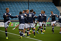 Millwall players warm up  during Millwall vs Stevenage, Caraboa Cup Football at The Den on 8th August 2017