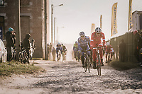 rough cobbled section<br /> <br /> 50th GP Samyn 2018<br /> Quaregnon > Dour: 200km (BELGIUM)