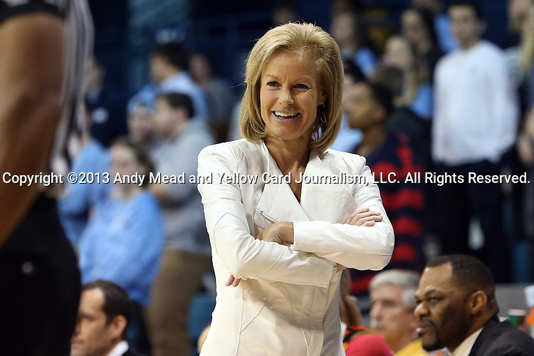 31 January 2013: FSU head coach Sue Semrau. The University of North Carolina Tar Heels played the Florida State University Seminoles at Carmichael Arena in Chapel Hill, North Carolina in an NCAA Division I Women's Basketball game. UNC won the game 72-62.