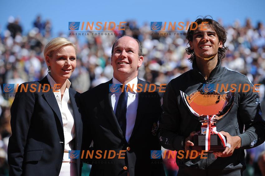 Rafael Nadal (Spagna) e SAS le prince Albert de Monaco.Monaco Montecarlo 22/4/2012.Tennis Torneo ATP 1000 Master .Foto Insidefoto / Antoine Couvercelle / Tennismag / Panoramic .ITALY ONLY