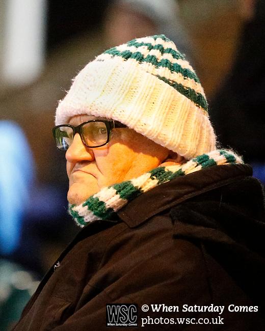 An unhappy Blyth fan. Blyth Spartans v Brackley Town, 30112019. Croft Park, National League North. Photo by Paul Thompson.