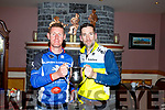 At the TT Championship Cycling awards in O'Riada's Bar Ballymac on Thursday evening. <br />  Denis Lynch with George Doyle (Tralee BC).<br />  .