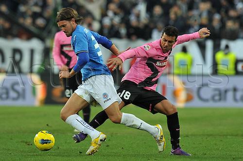18.12.2011. Turin, Italy.   Fabio Quagliarella Juventus Giuseppe Gemiti Novara Torino  Series A 2011 2012 Juventus  vs Novara Calcio