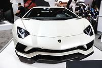 NEW YORK, EUA, 13.04.2017 - AUTOMÓVEL-NEW YORK - Lamborghini é visto durante o New York Internacional Auto Show no Javits Center na cidade de New York nesta quinyta-feira, 13. O evento é aberto ao público do dia 14 à 23 de abril de 2017 . (Foto: Vanessa Carvalho/Brazil Photo Press)