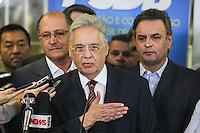 SÃO PAULO, SP, 25 MARÇO 2013 - COLETIVA PSDB CONGRESSO -  O ex presidente da República Fernando Henrique Cardoso atende jornalistas no do Congresso do PSDB, na capital paulista, nesta segunda-feira, 25. (FOTO: WILLIAM VOLCOV / BRAZIL PHOTO PRESS).