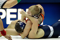 STATE COLLEGE, PA -DECEMBER 19: Michael Waters of the Penn State Nittany Lions is pinned during a match against Devin Carter of the Virginia Tech Hokies on December 19, 2014 at Recreation Hall on the campus of Penn State University in State College, Pennsylvania. Penn State won 20-15. (Photo by Hunter Martin/Getty Images) *** Local Caption *** Michael Waters;Devin Carter