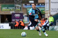 Scott Davies of Wycombe Wanderers, former Reading player and Republic of Ireland U21International in action during Wycombe Wanderers vs Colchester United, Coca Cola League Division One Football at Adams Park on 17th October 2009
