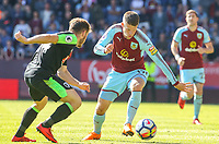 Burnley's Johann Gudmundsson takes on Bournemouth's Ryan Fraser<br /> <br /> Photographer Alex Dodd/CameraSport<br /> <br /> The Premier League - Burnley v Bournemouth - Sunday 13th May 2018 - Turf Moor - Burnley<br /> <br /> World Copyright &copy; 2018 CameraSport. All rights reserved. 43 Linden Ave. Countesthorpe. Leicester. England. LE8 5PG - Tel: +44 (0) 116 277 4147 - admin@camerasport.com - www.camerasport.com