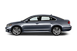 Car Driver side profile view of a 2017 Volkswagen Passat R-Line 4 Door Sedan Side View