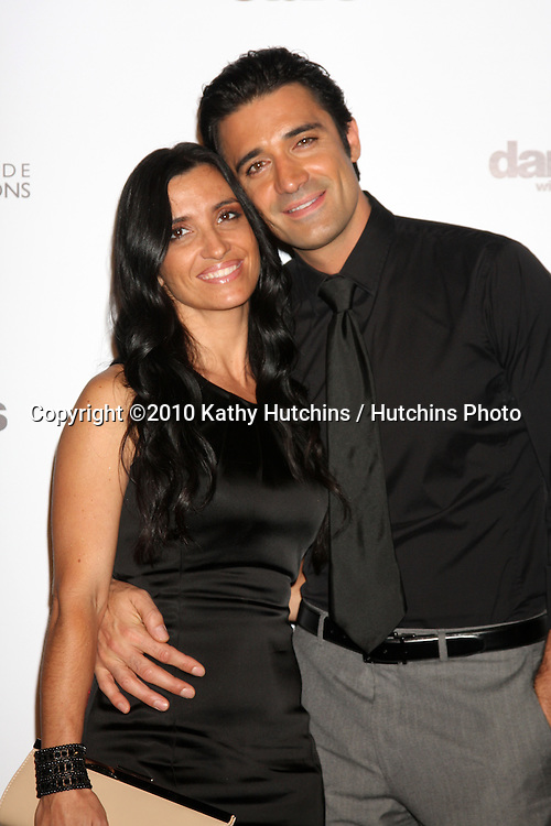 LOS ANGELES - NOV 1:  Gilles Marini, wife arrives at the Dancing With The Stars 200th Show Party at Boulevard3 on November 1, 2010 in Los Angeles, CA