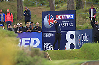 Joakim Lagergren (SWE) on the 8th tee during Round 2 of the Betfred British Masters 2019 at Hillside Golf Club, Southport, Lancashire, England. 10/05/19<br /> <br /> Picture: Thos Caffrey / Golffile<br /> <br /> All photos usage must carry mandatory copyright credit (&copy; Golffile | Thos Caffrey)