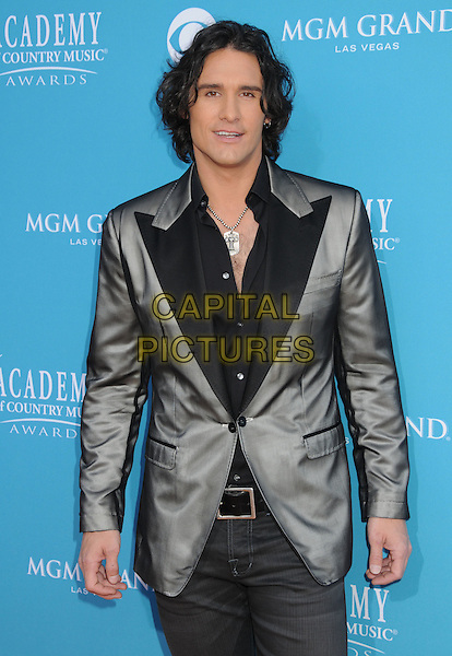 JOE NICHOLS.45th Annual Academy Of Country Music Awards held at the MGM Grand Garden Arena, Las Vegas, NV, USA..April 18th, 2010.half length black grey gray silver suit jacket .CAP/ADM/BP.©Byron Purvis/AdMedia/Capital Pictures.