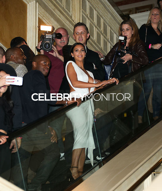LAS VEGAS, NV, USA - OCTOBER 25: Kim Kardashian West arrives at her 34th Birthday Celebration held at TAO Nightclub at The Venetian Las Vegas on October 25, 2014 in Las Vegas, Nevada, United States. (Photo by Xavier Collin/Celebrity Monitor)