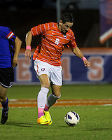 The number 24 ranked Furman Paladins took on the number 20 ranked Clemson Tigers in an inter-conference game at Clemson's Riggs Field.  Furman defeated Clemson 2-1.  Manolo Sanchez (8)