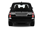 Straight rear view of a 2018 Land Rover Range Rover Autobiography Select Doors Door SUV stock images