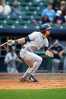 San Antonio Missions outfielder Travis Jankowski (6) at bat during a game against the NW Arkansas Naturals on May 30, 2015 at Arvest Ballpark in Springdale, Arkansas.  San Antonio defeated NW Arkansas 5-1.  (Mike Janes/Four Seam Images)