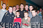 MEETING: Young supporters who met up with the No 1 Snooker player, Ronnie O'Sullivan, at Ballyroe Heights Hotel, Tralee, on Thursday night. They were Fergal O'Sullivan, Niall O'Brien, Fenton Collins, Michael O'Brien, Jamie O'Sullivan, Graham O'Sullivan, Joe Flynn, James and Dwyane Dunne..
