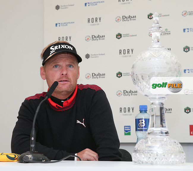 Soren Kjeldsen (DEN) wins the 2015 Dubai Duty Free Irish Open Hosted by The Rory Foundation at Royal County Down Golf Club, Newcastle County Down, Northern Ireland. 30/05/2015. Picture David Lloyd | www.golffile.ie