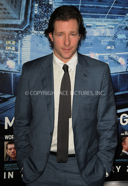 WWW.ACEPIXS.COM . . . . .  ....January 23 2012, LA....Ed Burns arriving at the premiere of  'Man On A Ledge' at Grauman's Chinese Theatre on January 23, 2012 in Hollywood, California.....Please byline: PETER WEST - ACE PICTURES.... *** ***..Ace Pictures, Inc:  ..Philip Vaughan (212) 243-8787 or (646) 679 0430..e-mail: info@acepixs.com..web: http://www.acepixs.com