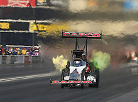 Nov 10, 2018; Pomona, CA, USA; NHRA top fuel driver Billy Torrence during qualifying for the Auto Club Finals at Auto Club Raceway. Mandatory Credit: Mark J. Rebilas-USA TODAY Sports