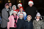 The Grogan and Farrelly Families at the Arrival of Santa and the turning on of the Christmas Lights in Dunleer...(Photo credit should read Jenny Matthews www.newsfile.ie)....This Picture has been sent you under the conditions enclosed by:.Newsfile Ltd..The Studio,.Millmount Abbey,.Drogheda,.Co Meath..Ireland..Tel: +353(0)41-9871240.Fax: +353(0)41-9871260.GSM: +353(0)86-2500958.email: pictures@newsfile.ie.www.newsfile.ie.