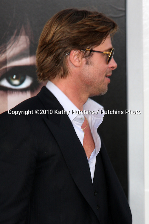 "LOS ANGELES - JUL 19:  Brad Pitt  arrive at the ""Salt"" Premiere at Grauman's Chinese Theater on July19, 2010 in Los Angeles, CA ...."