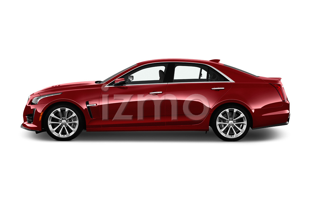 Car Driver side profile view of a 2019 Cadillac CTS-V - 4 Door Sedan Side View
