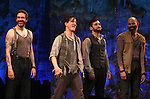 Kevin Del Aguila, Carson Elrod, Teddy Bergman & Matt D'Amico.during the Broadway Opening Night Performance Curtain Call for 'Peter And The Starcatcher' at the Brooks Atkinson Theatre on 4/15/2012 in New York City.