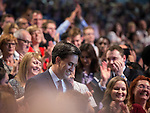 © Joel Goodman - 07973 332324 . 24/09/2013 . Brighton , UK . The Labour Party Leader , Ed Miliband , walks through the audience after delivering the Leader's Speech to the conference , this afternoon (24th September 2013) . Day 3 of the Labour Party Conference in Brighton . Photo credit : Joel Goodman