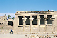 The mammisi, or birth house, in the Temple of Hathor at Dendara. This is a Greco-Roman temple built between 125 BC and AD 60 as part of the attempt to emphasize dedication to Egypt's gods and hence legitimize the claim to the throne. The mammisi is dedicated to the birth of Osiris.