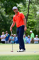 Jon Rahm (ESP) watches his putt on 10 during round 3 of the Shell Houston Open, Golf Club of Houston, Houston, Texas, USA. 4/1/2017.<br /> Picture: Golffile | Ken Murray<br /> <br /> <br /> All photo usage must carry mandatory copyright credit (&copy; Golffile | Ken Murray)