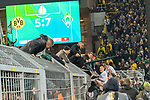 05.02.2019, Signal Iduna Park, Dortmund, GER, DFB-Pokal, Achtelfinale, Borussia Dortmund vs Werder Bremen<br /> <br /> DFB REGULATIONS PROHIBIT ANY USE OF PHOTOGRAPHS AS IMAGE SEQUENCES AND/OR QUASI-VIDEO.<br /> <br /> im Bild / picture shows<br /> <br /> Maximilian Eggestein (Werder Bremen #35)<br /> und Max Kruse (Werder Bremen #10) bei den Fans auf dem Zaun<br /> <br /> Foto &copy; nordphoto / Ewert