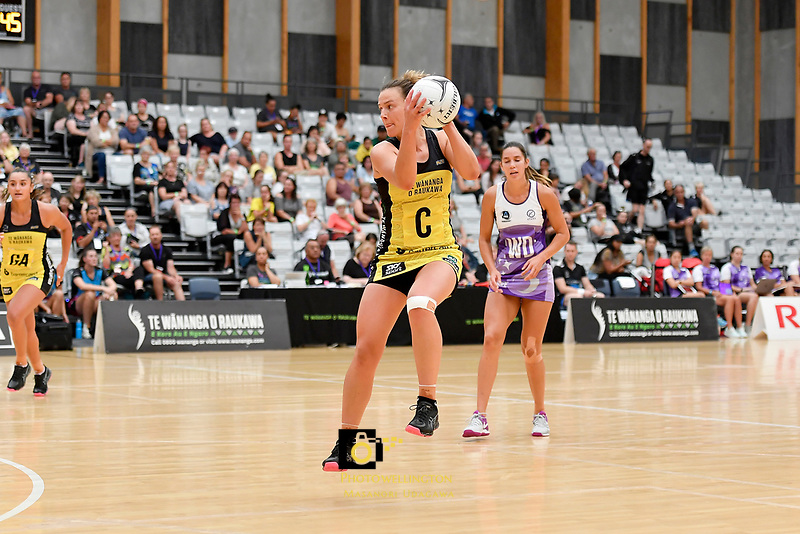 Pulse&rsquo; Claire Kersten in action during the Netball Pre Season Tournament - Pulse v Stars at Ngā Purapura, Otaki, New Zealand on Saturday 9 February  2019. <br />