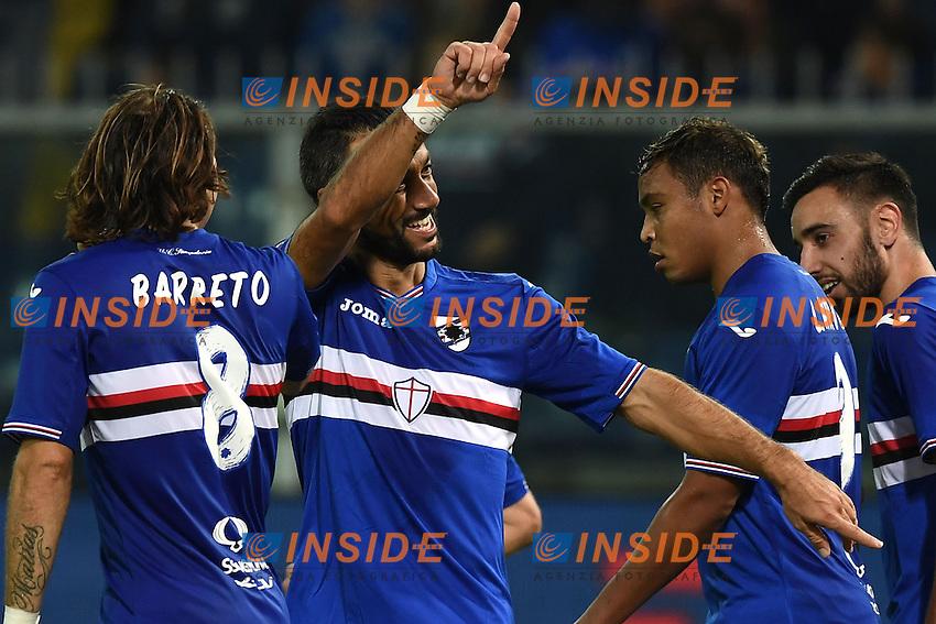 Genova 30-10-2016 - Football campionato di calcio serie A / Sampdoria - Inter / foto Image Sport/Insidefoto<br /> Esultanza Gol Fabio Quagliarella Sampdoria Goal celebration