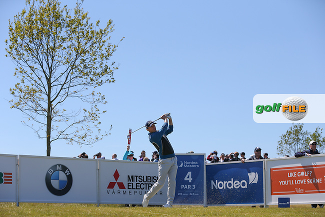 Michael Hoey (NIR) plays down the 4th during Round Two of the 2015 Nordea Masters at the PGA Sweden National, Bara, Malmo, Sweden. 05/06/2015. Picture David Lloyd   www.golffile.ie