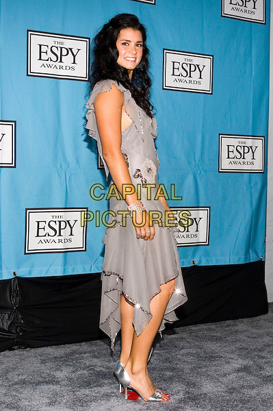 DANICA PATRICK.13th Annual ESPY Awards Arrivals held at the Kodak Theatre, Hollywood, California.  .July 13th, 2005.Photo Credit: Zach Lipp/AdMedia.full length purple dress ruffles.www.capitalpictures.com.sales@capitalpictures.com.© Capital Pictures.
