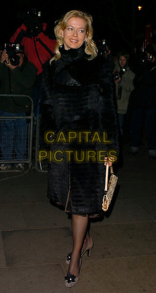 LADY HELEN TAYLOR.Burns' Night - VIP fundraising party at Asia de Cuba, London, UK. .January 25th, 2006.Ref: CAN.full length black fur coat purse.www.capitalpictures.com.sales@capitalpictures.com.©Capital Pictures