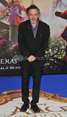 Tim Burton at the &quot;Alice Through The Looking Glass&quot; European film premiere, Odeon Leicester Square cinema, Leicester Square, London, England, UK, on Tuesday 10 May 2016.<br /> CAP/CAN<br /> &copy;CAN/Capital Pictures /MediaPunch ***NORTH AMERICA AND SOUTH AMERICA ONLY***