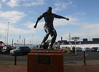 A general view of the Stanley Mortensen statue outside Bloomfield Road<br /> <br /> Photographer Kevin Barnes/CameraSport<br /> <br /> The EFL Sky Bet League One - Blackpool v Gillingham - Saturday 4th May 2019 - Bloomfield Road - Blackpool<br /> <br /> World Copyright © 2019 CameraSport. All rights reserved. 43 Linden Ave. Countesthorpe. Leicester. England. LE8 5PG - Tel: +44 (0) 116 277 4147 - admin@camerasport.com - www.camerasport.com