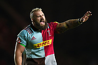 Joe Marler of Harlequins. Aviva Premiership match, between Harlequins and Sale Sharks on October 6, 2017 at the Twickenham Stoop in London, England. Photo by: Patrick Khachfe / JMP