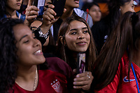 HOUSTON, TX - FEBRUARY 03: Fans watch the USWNT during a game between Costa Rica and USWNT at BBVA Stadium on February 03, 2020 in Houston, Texas.