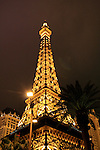 Eiffel tower in Las Vegas at night