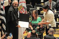 SÃO PAULO,SP,18.12.2018 - DIPLOMAÇÃO-SP - Mara Gabrielli durante cerimonia de diplomação dos candidatos eleitos para assumir o cargo em janeiro 2019. A cerimonia foi realizada na sala Sao Paulo nesta terça-feira, 18. (Foto Dorival Rosa/Brazil Photo Press)