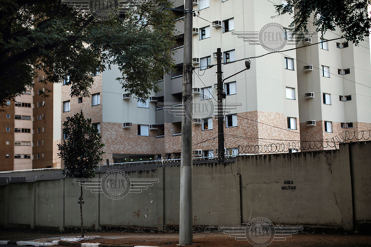 Apartments of former and current military officers at a military base on R. Abilio Soares near Rua Tutoia in the Paraiso neighbourhood. During the years of military rule (1 April, 1964 to 15 March, 1985) Rua Tutoia was infamous as it housed the Department of Information Operations (Centre for Internal Defence Operations) was people were often taken in for questioning, usually involving a degree of torture.